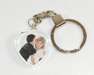 Portachiavi in cristallo con foto personalizzato