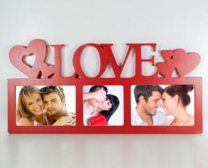 Cornice rossa con foto love per san valentino