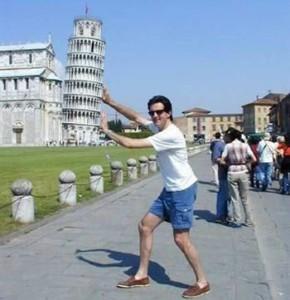 La torre di Pisa nelle foto turistiche