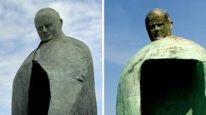 Statua commemorativa di Papa Giovanni Paolo II