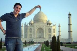 Turista al Taj Mahal