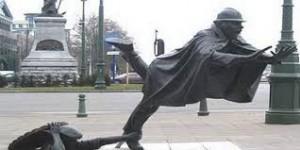 Statua Vaartkapoen, Bruxelles, Belgio