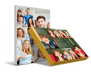 Collage su tela con foto bambini