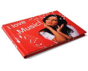 libro pentagramma personalizzato con foto e grafiche