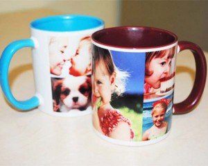 tazza personalizzata con collage di foto