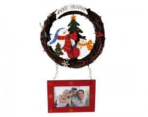 Ghirlanda natalizia personalizzata con foto