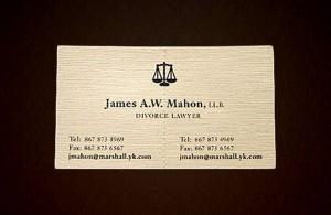 Biglietto da visita avvocato divorzista