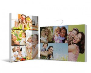 collage fotografico stampato su tela